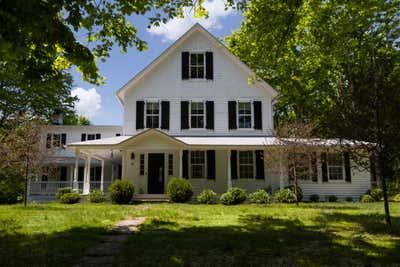 Farmhouse Exterior. Pound Ridge Farmhouse by White Arrow.