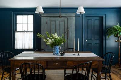 Country House Dining Room. Pound Ridge Farmhouse by White Arrow.