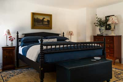Country House Bedroom. Pound Ridge Farmhouse by White Arrow.