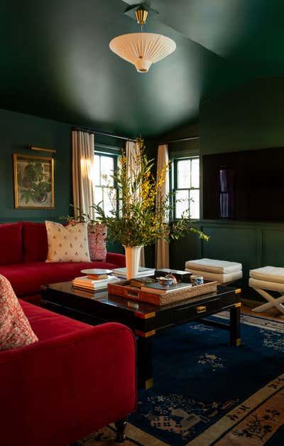 Country House Living Room. Pound Ridge Farmhouse by White Arrow.