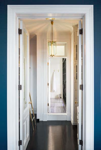 Modern Storage Room and Closet. Williamsburg Schoolhouse by White Arrow.