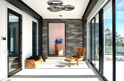 Contemporary Beach House Entry and Hall. Montauk Beach House by Katch Interiors.