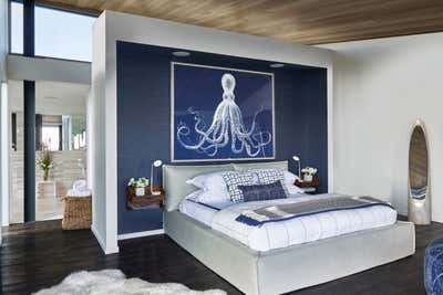 Beach Style Bedroom. Montauk Beach House by Katch Interiors.