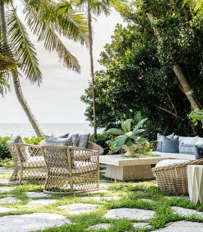 Tropical Patio and Deck. Coconut Grove by KitchenLab | Rebekah Zaveloff Interiors.