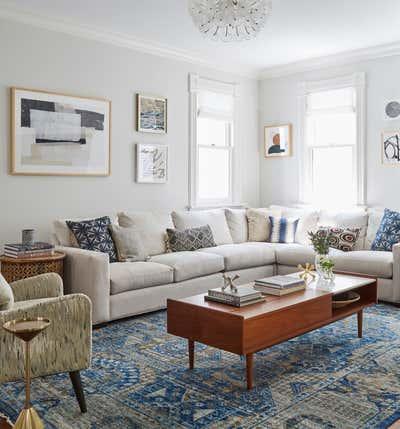 Craftsman Living Room. Kenilworth by KitchenLab | Rebekah Zaveloff Interiors.