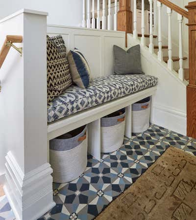 Craftsman Entry and Hall. Kenilworth by KitchenLab | Rebekah Zaveloff Interiors.