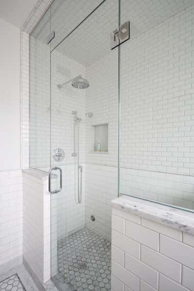 Craftsman Bathroom. Elmwood by KitchenLab | Rebekah Zaveloff Interiors.