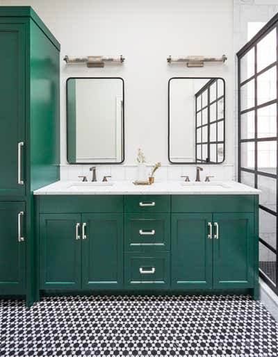 Industrial Bathroom. Logan by KitchenLab | Rebekah Zaveloff Interiors.