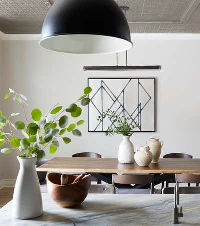 Contemporary Family Home Dining Room. Logan by KitchenLab | Rebekah Zaveloff Interiors.