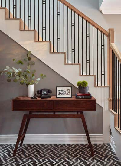 Contemporary Family Home Entry and Hall. Logan by KitchenLab | Rebekah Zaveloff Interiors.