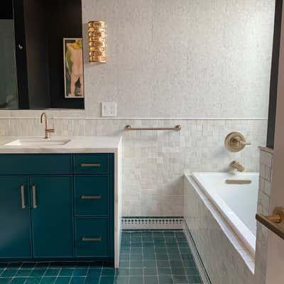Tropical Bathroom. Palm Dessert by KitchenLab | Rebekah Zaveloff Interiors.