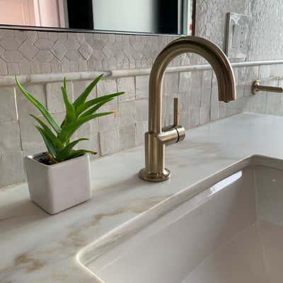 Moroccan Bathroom. Palm Dessert by KitchenLab | Rebekah Zaveloff Interiors.
