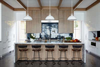 Beach Style Kitchen. Waterfront Sag Harbor Home by Katch Interiors.