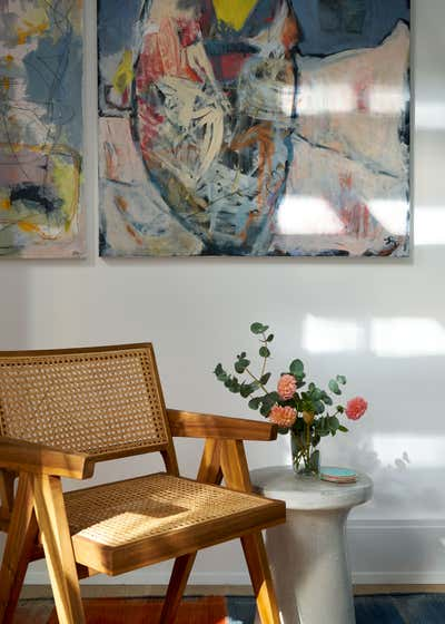 Contemporary Beach House Entry and Hall. Waterfront Sag Harbor Home by Katch Interiors.