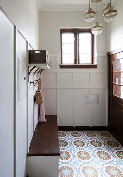 Craftsman Entry and Hall. Elmwood by KitchenLab | Rebekah Zaveloff Interiors.