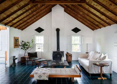 Cottage Living Room. Shelter Island House by Workstead.