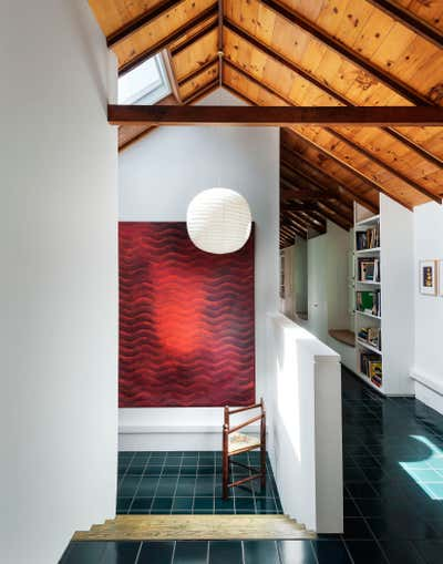 Contemporary Vacation Home Entry and Hall. Shelter Island House by Workstead.