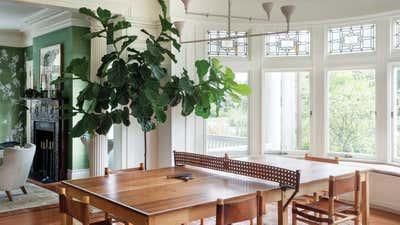 Contemporary Family Home Dining Room. Prospect Park South House by Workstead.