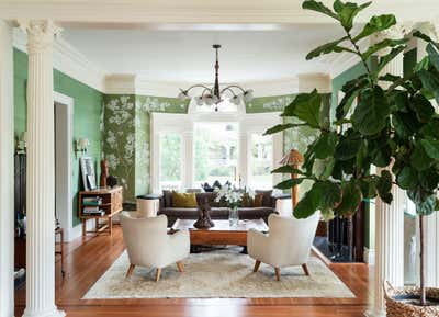 British Colonial Living Room. Prospect Park South House by Workstead.
