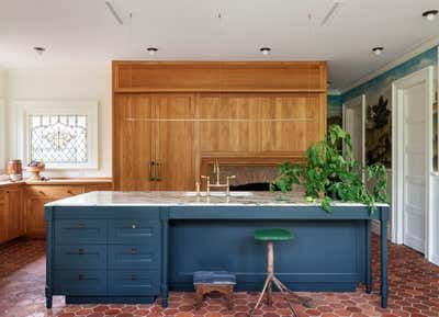 British Colonial Kitchen. Prospect Park South House by Workstead.