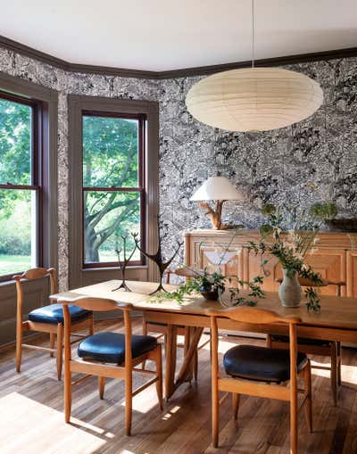 Contemporary Family Home Dining Room. Twin Bridges House by Workstead.