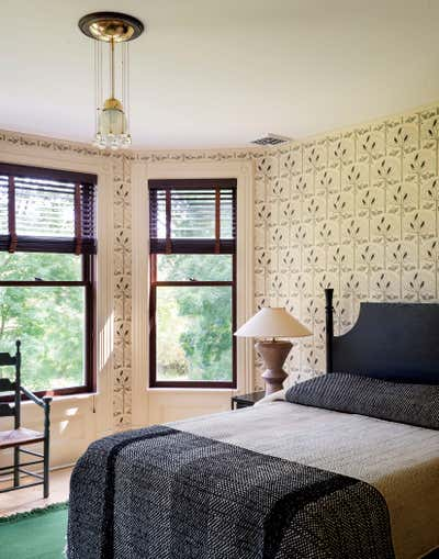 Contemporary Family Home Bedroom. Twin Bridges House by Workstead.