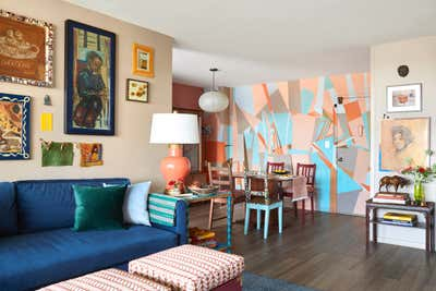Contemporary Apartment Dining Room. Williamsburg Brooklyn, NY Coop Apartment by Keita Turner Design.