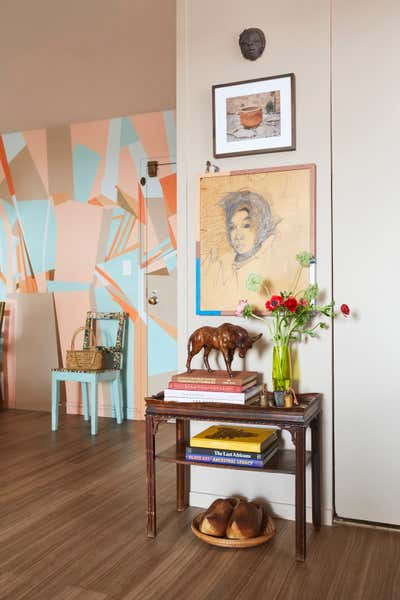 Art Deco Apartment Entry and Hall. Williamsburg Brooklyn, NY Coop Apartment by Keita Turner Design.