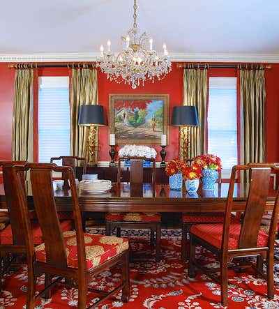 British Colonial Dining Room. Westchester, NY Tudor Revival Residence by Keita Turner Design.