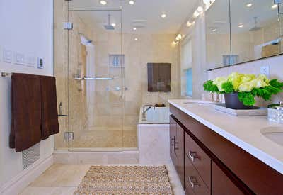 Contemporary Family Home Bathroom. Westchester, NY Tudor Revival Residence by Keita Turner Design.