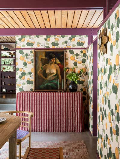 Eclectic Dining Room. Altadena by Reath Design.