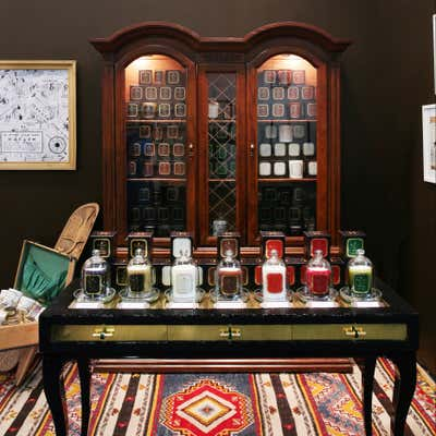 Moroccan Workspace. Harlem Candle Company at Architectural Digest Show by Keita Turner Design.