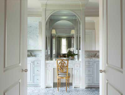 Transitional Bathroom. Game Day House by Cantley & Company, Inc.