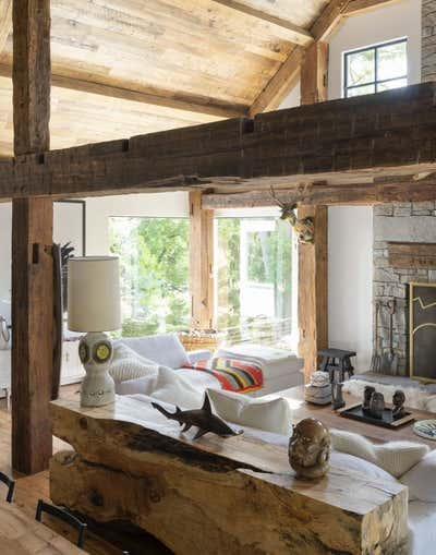 Country Living Room. The Lodge  by The Brooklyn Home Co..