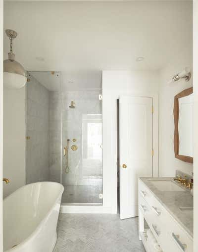 Country Bathroom. Carroll Gardens Townhouse  by The Brooklyn Home Co..