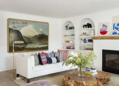 Farmhouse Living Room. Brooklyn Heights Townhouse  by The Brooklyn Home Co..