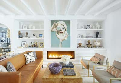 Hollywood Regency Living Room. Park Slope Townhouse  by The Brooklyn Home Co..