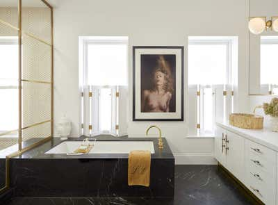 Hollywood Regency Bathroom. Park Slope Townhouse  by The Brooklyn Home Co..