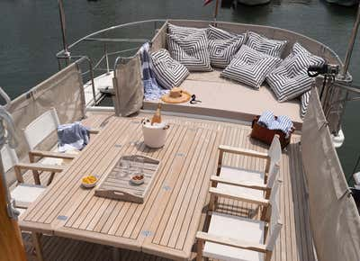 Beach Style Exterior. Lucy the Tugboat by The Brooklyn Home Co..