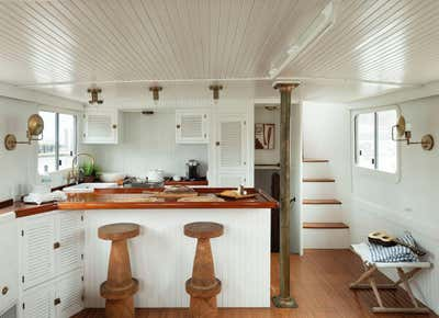 Beach Style Kitchen. Lucy the Tugboat by The Brooklyn Home Co..
