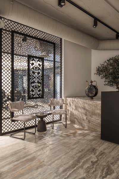 Contemporary Entry and Hall. Law firm in the heart of Riyadh by A Interiors.