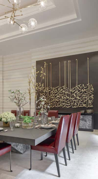 Contemporary Dining Room. Residence in Riyadh by A Interiors.