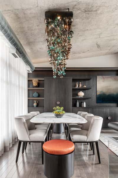 Transitional Dining Room. Toronto Penthouse by Sheree Stuart Design.