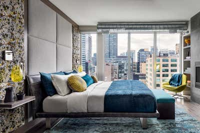 Transitional Bedroom. Toronto Penthouse by Sheree Stuart Design.