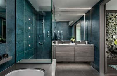 Transitional Bathroom. Toronto Penthouse by Sheree Stuart Design.