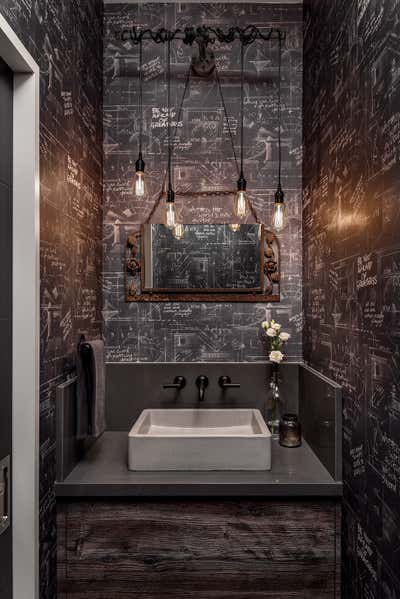 Industrial Bathroom. Hillsdale by Sheree Stuart Design.