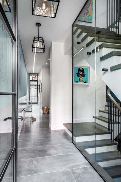 Industrial Entry and Hall. Hillsdale by Sheree Stuart Design.