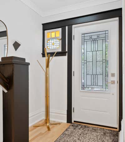 Art Deco Family Home Entry and Hall. Modern Minimalist Deco by Delicate Steel.