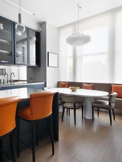 Mid-Century Modern Kitchen. Chelsea Townhouse by Woolf Interior Architecture & Design.