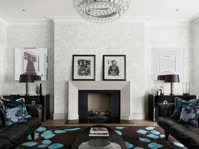 Mid-Century Modern Living Room. Chelsea Townhouse by Woolf Interior Architecture & Design.